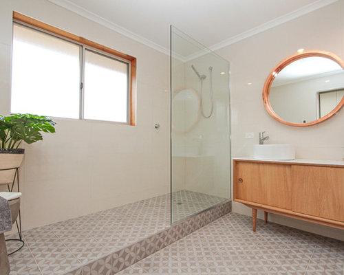 Scandinavian copper shower home design ideas photos for Bathroom designs hobart