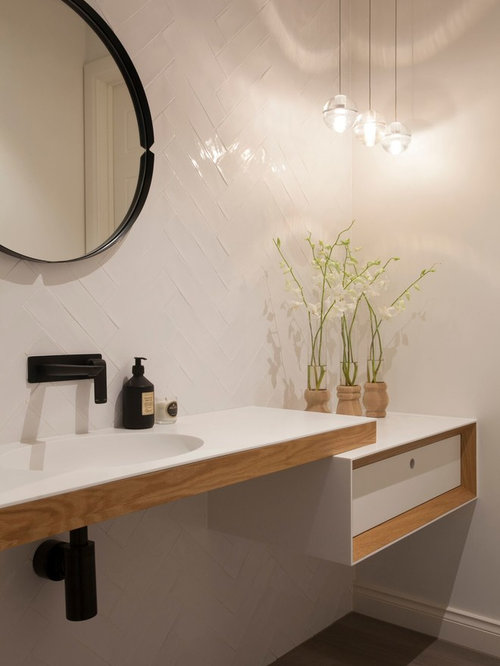 Inspiration For A Scandinavian Bathroom Remodel In Melbourne