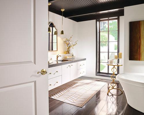 Modern 5x10 Bathroom Design Ideas Remodels Photos With Dark Hardwood Floors