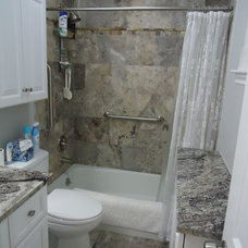 Traditional Bathroom by Natural Stone Gallery