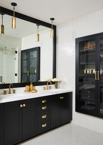 Transitional Bathroom by NORTH STAR KITCHENS
