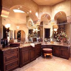 Mediterranean Bathroom by Theresa Franklin, ASID