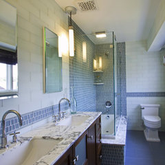 contemporary bathroom by A. Rejeanne Interiors