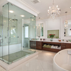 Transitional Bathroom by Trilogy Construction Company