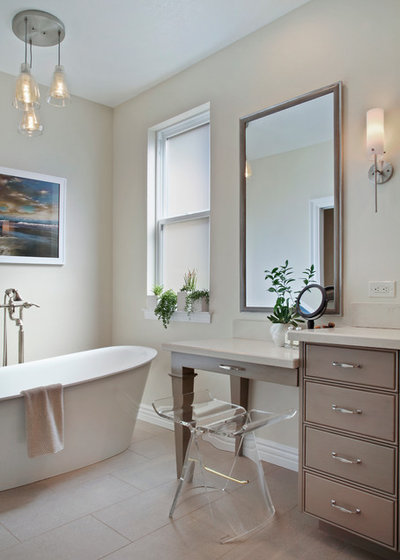 Transitional Bathroom by Cindy Smetana Interiors
