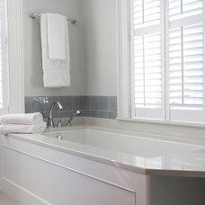 Beach Style Bathroom by Judy Cook Interiors, LLC