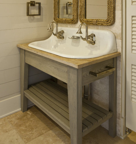 Beach cottage bathroom home design ideas pictures for Bathroom sink remodel