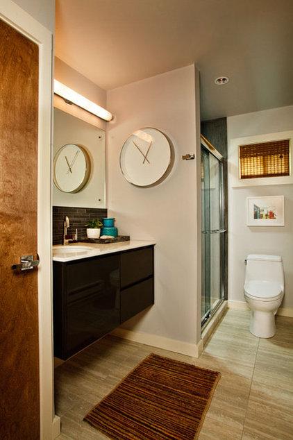 Beach Style Bathroom by Garrison Hullinger Interior Design Inc.