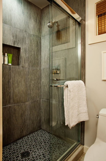 Beach Style Bathroom by Garrison Hullinger Interior Design Inc.