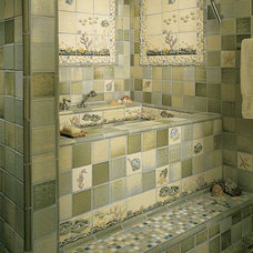 Tropical Bathroom by Pratt and Larson Ceramics