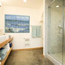 Contemporary Bathroom by Pacifica Tile Art Studio