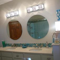 Tropical Bathroom by Gina Hewlett