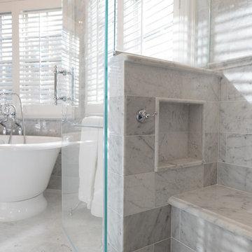 Seat & Niche inside the shower