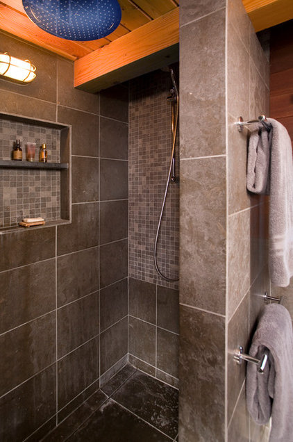 Rustic Bathroom by MLB Design Group