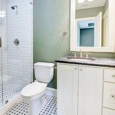 Transitional Bathroom by Michael Garabedian