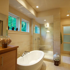 Contemporary Bathroom by Shelburne Development