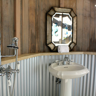 Inspiration for an eclectic bathroom remodel in San Francisco