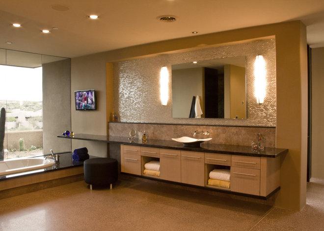 Southwestern Bathroom by Tate Studio Architects