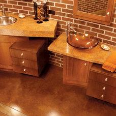 Transitional Bathroom by Seifer Kitchen Design Center