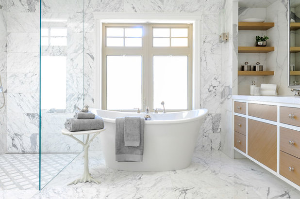 Transitional Bathroom by Marino General Contracting