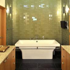 Beach Style Bathroom by Rhodes Architecture + Light