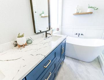 Serene Azure Bathroom