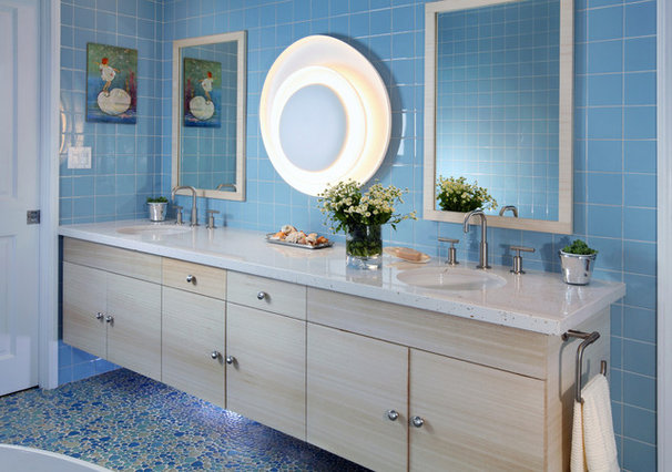 Bathroom Floor Tile: Glass Mosaic For A Luxurious Look