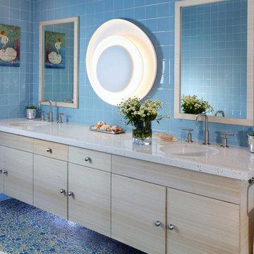 Serene Scandifornian: Kitchen, Baths & Princess Playroom