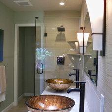 Asian Bathroom by Yoko Oda Interior Design