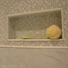 Transitional Bathroom by RJK Construction Inc