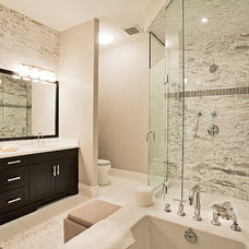 contemporary bathroom by HUSH