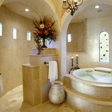 Mediterranean Bathroom by JAUREGUI Architecture Interiors Construction