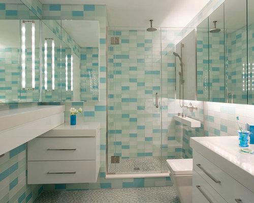 Fotos de ba os dise os de ba os con jacuzzi y baldosas y - Banos con azulejos azules ...