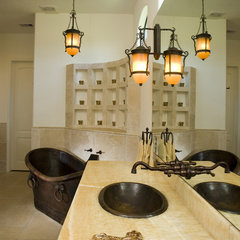 mediterranean bathroom by Hann Builders