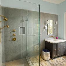 Farmhouse Bathroom by Bevan Associates