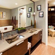 Contemporary Bathroom by Bella Villa Design Studio