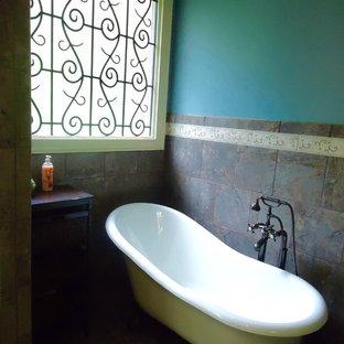 Inspiration pour une salle de bain style shabby chic.