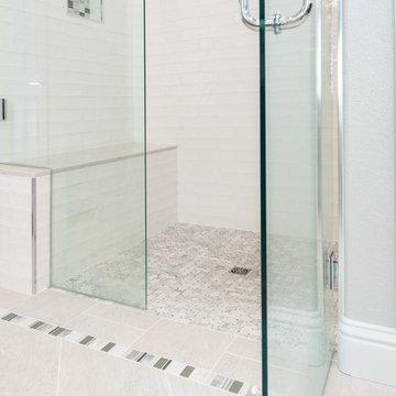Shabby-Chic Master Bathroom on Montego Lane - Stunning Shower Details