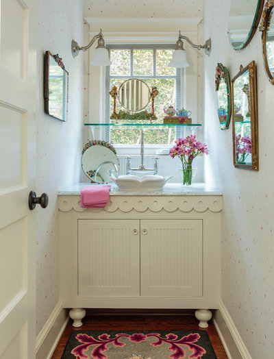 Shabby-chic Style Bathroom by Alison Kandler Interior Design