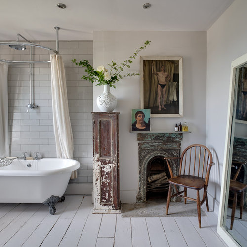5 Phenomenal Bathroom Tile Combinations: 75 Trendy Shabby-Chic Style Bathroom Design Ideas