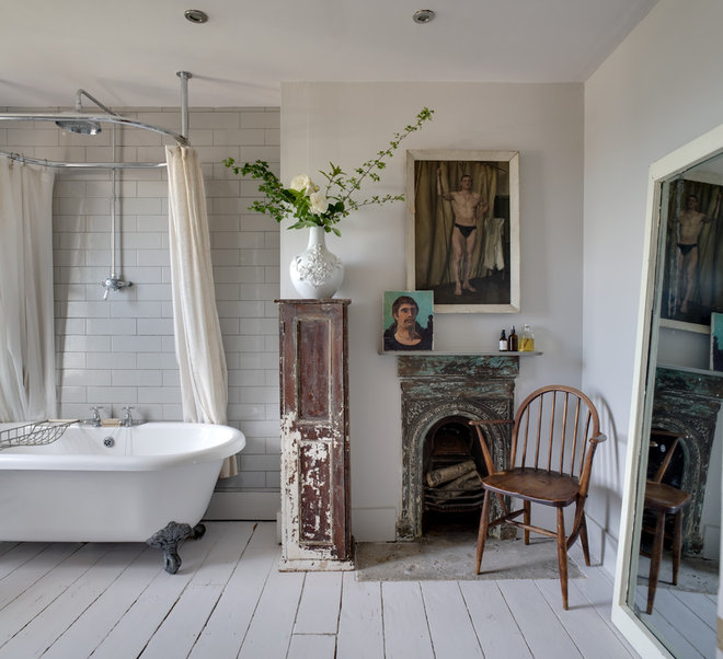 Shabby-chic Style Bathroom by Bruce Hemming Photography