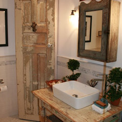 eclectic bathroom by Kelley & Company Home