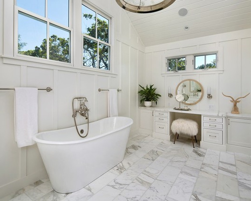 White Master Bathroom Ideas And Gray Decorating Tsc