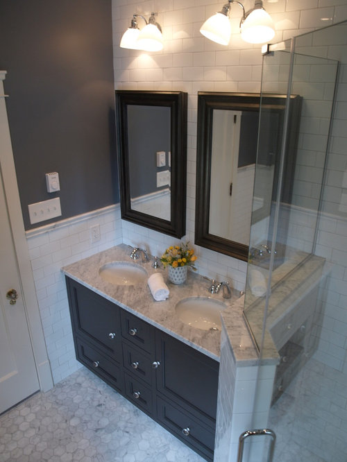 Bathroom design ideas renovations photos with grey for Gray and purple bathroom ideas