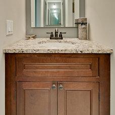 Traditional Bathroom by CliqStudios Cabinets