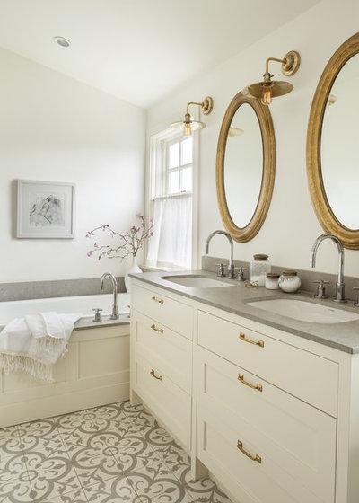 Transitional Bathroom by Sophie Burke Design