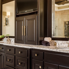 Transitional Bathroom by Kathleen Ramsey, Allied ASID
