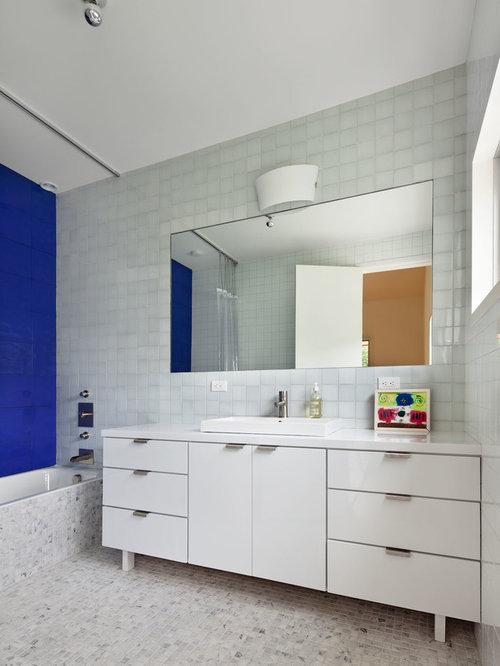 Blue Bathroom Drop In Sinks: Cobalt Blue Tile