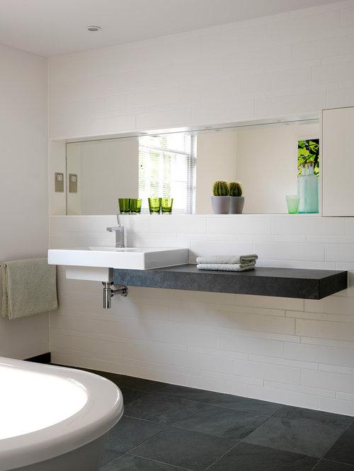 Sink On Floating Shelf Bathroom Design Ideas Remodels Photos