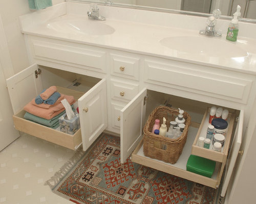 Bathroom Cabinet Organization Photos